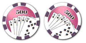 Poker game chip